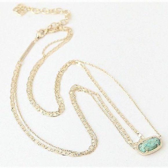 Kendra Scott Elisa Necklace in Green Chrysocolla